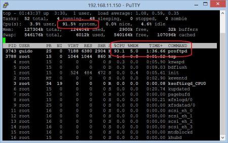 Auch per FTP geht nicht mehr durch die Leitung, da die CPU nicht mehr schafft :-(